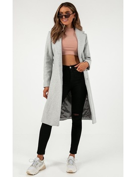 Back To The Big City Coat In Grey by Showpo Fashion