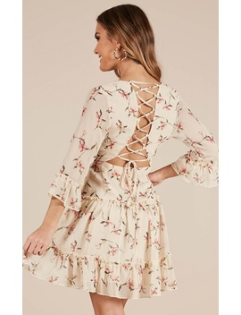 Like Art Dress In Lemon Floral by Showpo Fashion