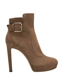Britney Brown Suede Boots by Jimmy Choo