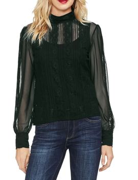 Lace & Chiffon Top by Vince Camuto