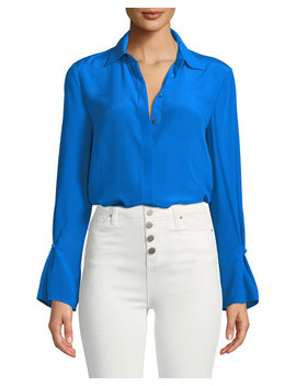 Gaelinda Button Front Silk Top by Club Monaco
