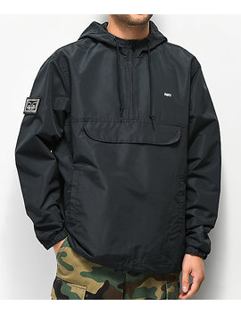 Obey Crosstown Ii Black Anorak Jacket by Obey