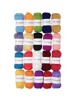 Tyh Supplies 20 Skeins Bonbons Yarn Assorted Colors   100 Percents Acrylic by Arts