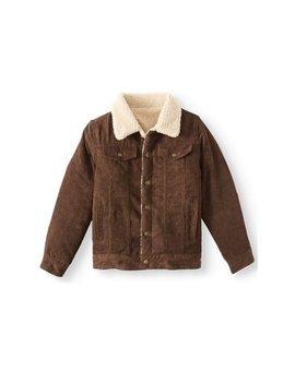 Cord Trucker Jacket With Sherpa Lining (Little Boys & Big Boys) by Bocini