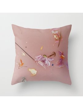 Harry Styles   Pink Flowers Album Throw Pillow by