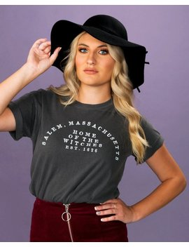 Home Of The Witches Shirt, Salem Massachusetts Tee, Witchy T Shirt, Trendy Halloween Tee by Etsy