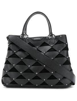 Stud Embellished Tote by Emporio Armani