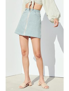 Charlie Holiday Palazzo Denim Skirt by Pacsun