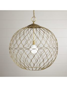 "Hoyne 31"" Brass Pendant by Crate&Barrel"