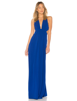 V Neck Cut Out Gown by Jill Jill Stuart