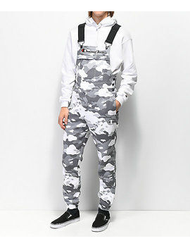 Champion White Camo Fleece Overalls by Champion