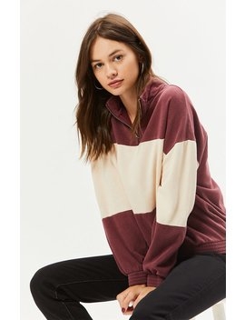 La Hearts Colorblocked Half Zip Sweatshirt by Pacsun
