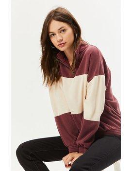 La Hearts Colorblocked Half Zip Sweatshirt by Pacsun