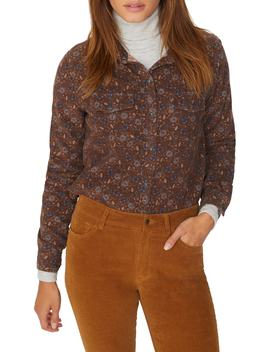 Floral Corduroy Work Shirt by Sanctuary