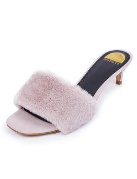 Faux Fur Sandal by Eloquii