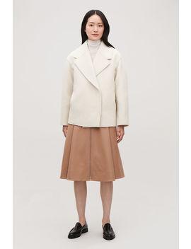 Oversized Lapel Wool Coat by Cos