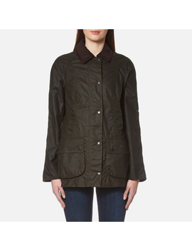Barbour Women's Classic Beadnell Wax Jacket   Olive by Barbour