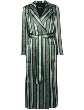 Striped Belted Trench Coat by Emporio Armani