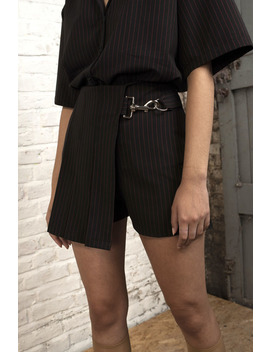 Betsy X The Ragged Priest  Pinstripe Skort by The Ragged Priest