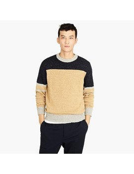 Cotton Wool Crewneck Sweater In Colorblock by J.Crew