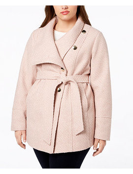I.N.C. Plus Size Belted Asymmetrical Coat, Created For Macy's by Inc International Concepts