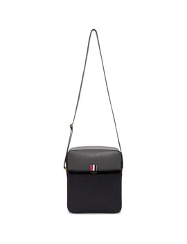 Black & Grey Camera Bag by Thom Browne