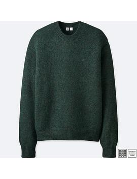 Men U Melange Crewneck Long Sleeve Sweater by Uniqlo