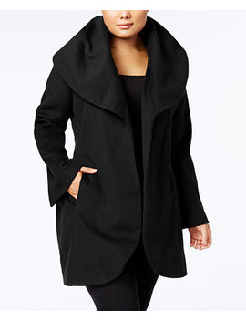 Plus Size Marla Belted Wrap Coat by T Tahari