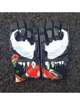 Custom Venom Football Receiver Gloves by Etsy