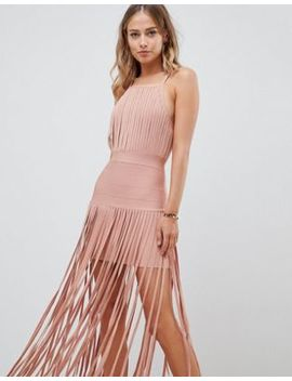 Asos Design Premium Bandage Fringe Dress by Asos Design