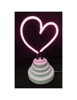 Wrought Studio Battery Operated Neon Heart Table Lamp by Wrought Studio