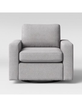 Barnstable Pillow Arm Transitional Swivel Arm Chair Gray   Threshold™ by Threshold™