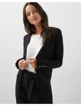 Ruffled Sleeve Open Cardigan by Rw & Co