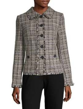 Tweed Long Sleeve Jacket by Karl Lagerfeld Paris