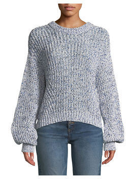 Ryce Cotton Crewneck Pullover Sweater by Veronica Beard