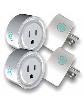 4 Pack Wifi Smart 10 Amp Power Plug, Now Power All Your 10 Amp Devices From Anywhere, Make Your Home & Business Smart, Compatible With Alexa, Echo Dot, Google Home & Smart Life App, No Hub Required by Steellabels