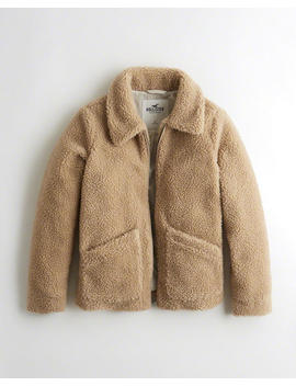 Oversized Faux Fur Coat by Hollister