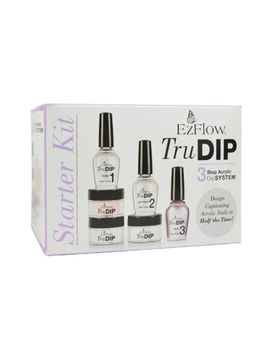 Ezflow Ez Tru Dip Dipping Powder Starter Kit 3 Step Dip System by Ez Flow
