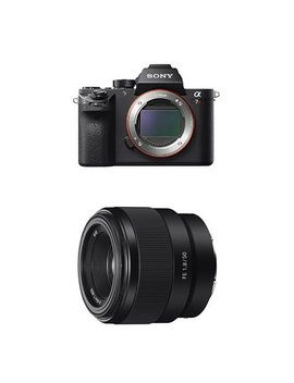 Sony Ilce7 Rm2/B A7 R Ii Full Frame Mirrorless Interchangeable Lens Camera, Body Only With Sony 50 50mm F/1.8 22 Fixed Prime Digital Slr Camera Lens, Black (Sel50 F18 F) Bundle by Amazon