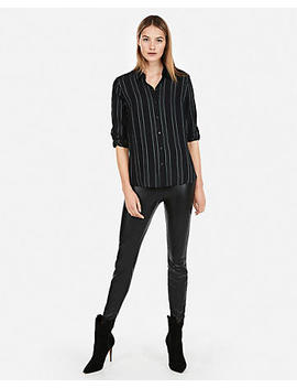 Stripe No Pocket City Shirt By Express by Express