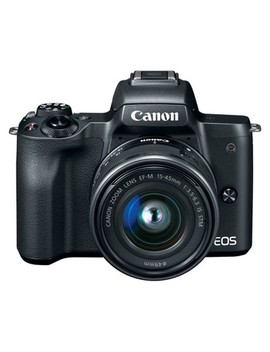 Canon Eos M50 Digital Slr 15 45mm Is Stm Kit Lens   Black (2680 C011) by Canon