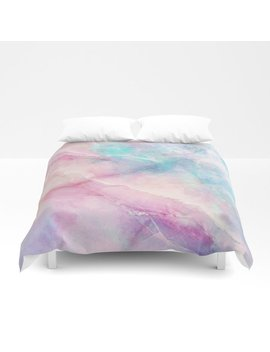 Iridescent Marble Duvet Cover by