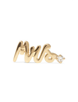 Mrs 14 Karat Gold Diamond Earring by Alison Lou
