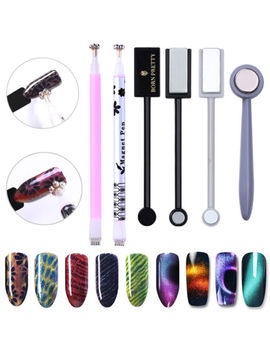 Double Head Nail Art Cat Eyes Magnet Pen For Gel Polish 3 D Line Magnetic Stick by Unbranded