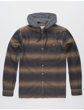Billabong Baja Black Mens Hooded Flannel Shirt by Billabong