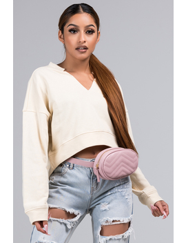 After The Storm Long Sleeve Crop Top by Akira