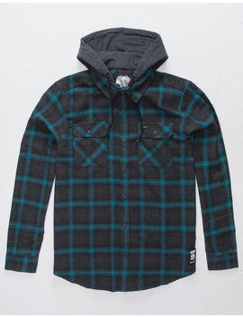 Rvca Good Hombre Mens Hooded Flannel Shirt by Rvca
