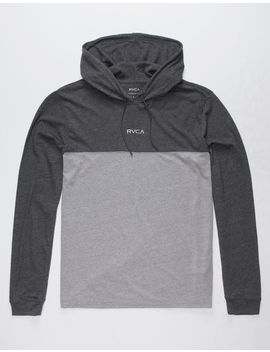 Rvca Center Front Black & Gray Mens Lightweight Hoodie by Rvca