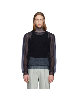Navy Sheer Turtleneck by Jil Sander