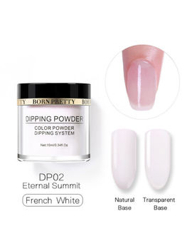 Born Pretty Dip Dipping Powder White Glitter Dry Long Lasting Nail Decoration by Born Pretty